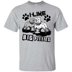 I Like Big Pitties Drk - G200 Gildan Ultra Cotton T-Shirt Sport Grey Small - Little Pit Shop