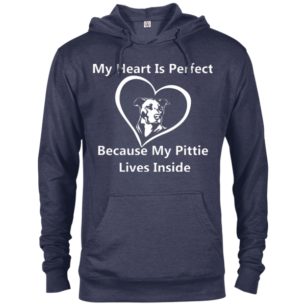My Heart - 97200 Delta French Terry Hoodie Dark Denim Heather X-Small - Little Pit Shop