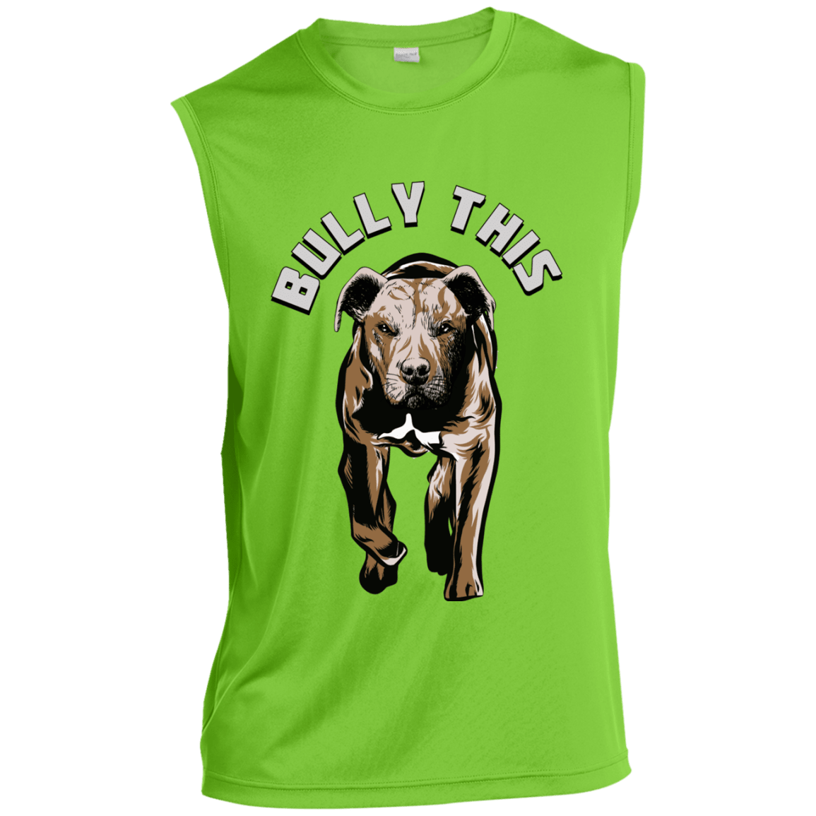 Bully This! - ST352 Sport-Tek Sleeveless Performance T-Shirt Limeshock X-Small - Little Pit Shop