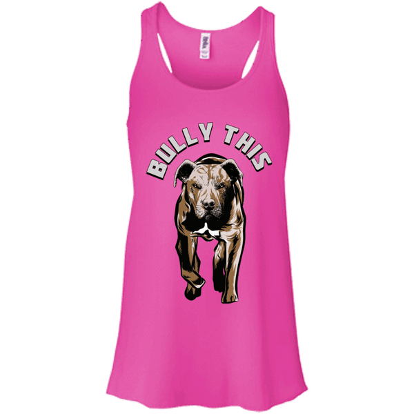 Bully This! - B8800 Bella + Canvas Flowy Racerback Tank Neon Pink X-Small - Little Pit Shop