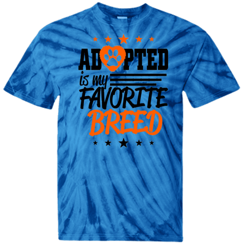 Adopted is My Favorite Breed - CD100 100% Cotton Tie Dye T-Shirt Spider Royal Small - Little Pit Shop