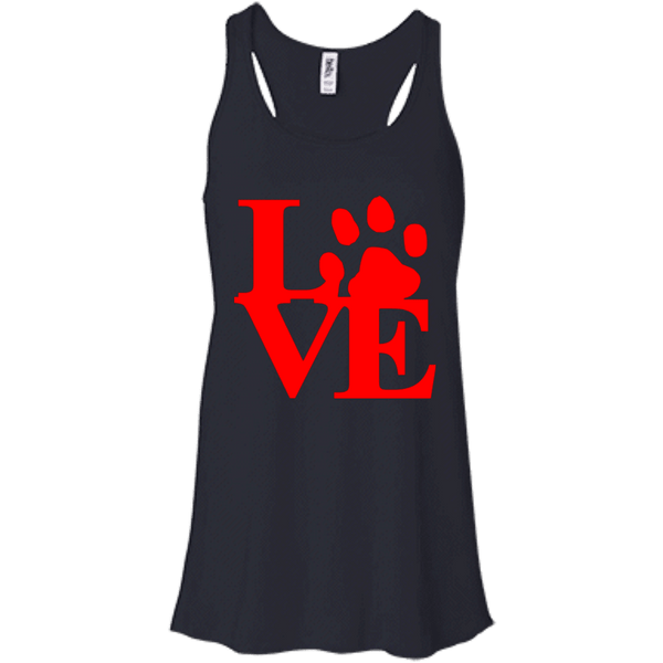 Love Red - B8800 Bella + Canvas Flowy Racerback Tank Midnight X-Small - Little Pit Shop