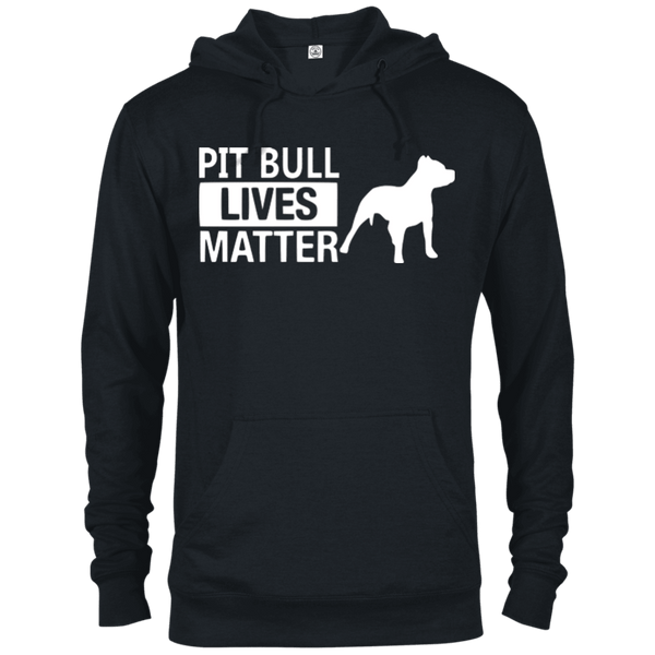 Pit Bull Lives Matter - 97200 Delta French Terry Hoodie Dark Black X-Small - Little Pit Shop