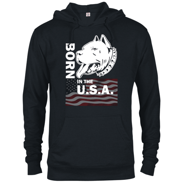 Born in the USA - 97200 Delta French Terry Hoodie Dark Black X-Small - Little Pit Shop