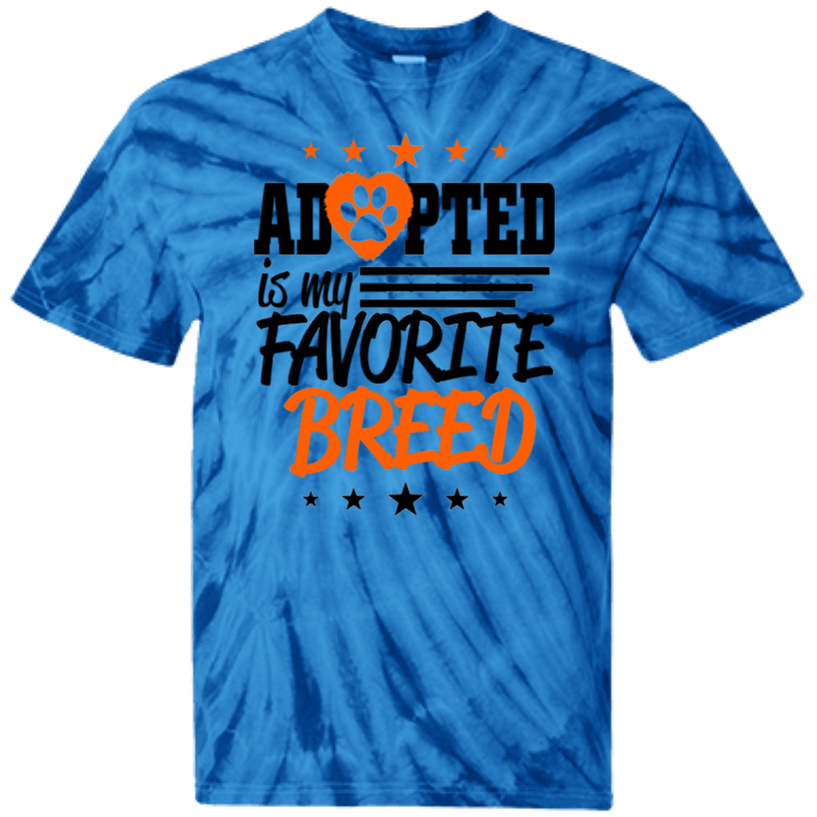 Adopted - CD100Y Youth Tie Dye T-Shirt Spider Royal YXS - Little Pit Shop