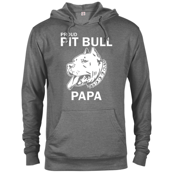 Proud Pit Bull Papa - 97200 Delta French Terry Hoodie Dark Graphite Heather X-Small - Little Pit Shop