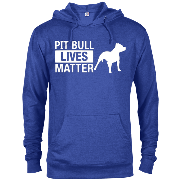 Pit Bull Lives Matter - 97200 Delta French Terry Hoodie Dark Royal Heather X-Small - Little Pit Shop