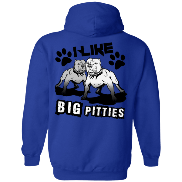 I Like Big Pitties Back Print Drk - G185 Gildan Pullover Hoodie 8 oz. Royal Small - Little Pit Shop