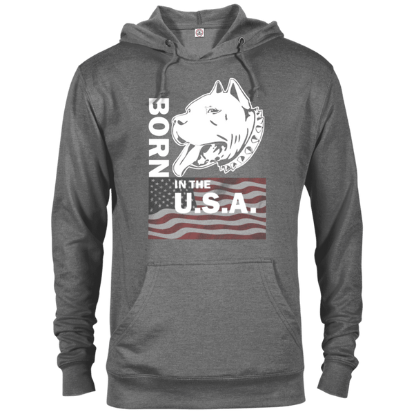 Born in the USA - 97200 Delta French Terry Hoodie Dark Graphite Heather X-Small - Little Pit Shop