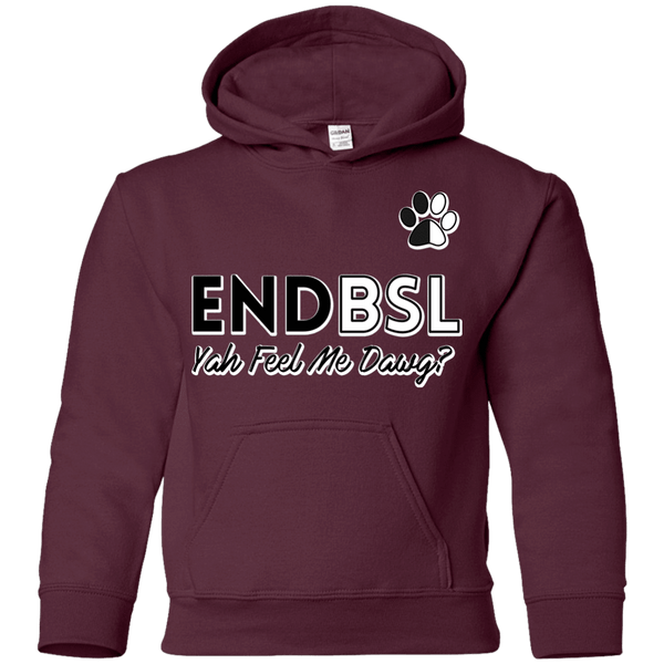 End BSL - G185B Gildan Youth Pullover Hoodie Maroon YS - Little Pit Shop