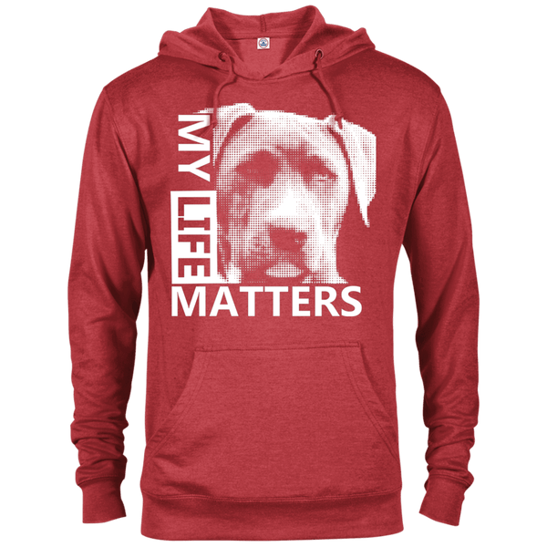 My Life Matters - 97200 Delta French Terry Hoodie Dark Red Heather X-Small - Little Pit Shop