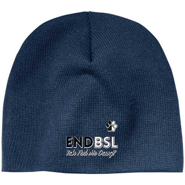 End BSL - CP91 100% Acrylic Beanie by Little Pit Shop Navy One Size - Little Pit Shop