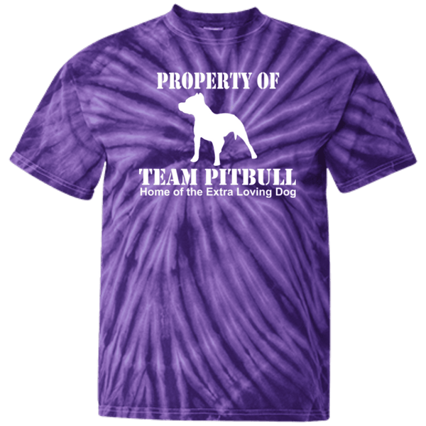 Team Pit Bull - CD100Y Youth Tie Dye T-Shirt Spider Purple YXS - Little Pit Shop