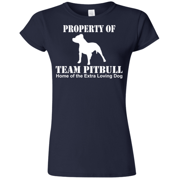 Team Pit Bull - G640L Gildan Softstyle Ladies' T-Shirt Dark Navy Small - Little Pit Shop