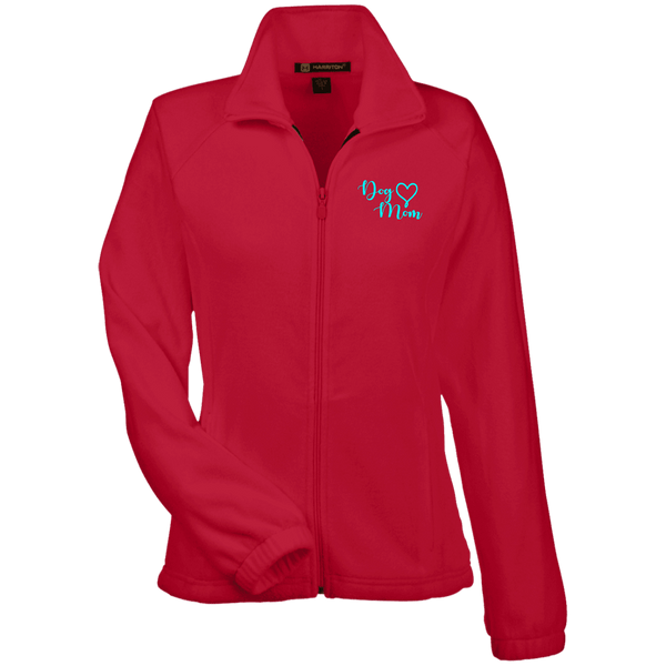 Dog Mom Teal Prnt - M990W Harriton Women's Fleece Jacket Red X-Small - Little Pit Shop