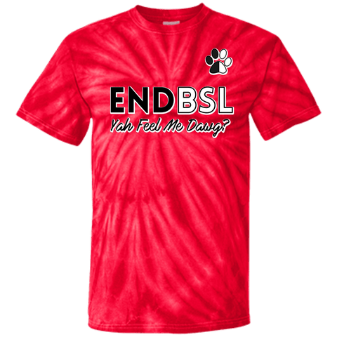 End BSL - CD100 100% Cotton Tie Dye T-Shirt Spider Red Small - Little Pit Shop