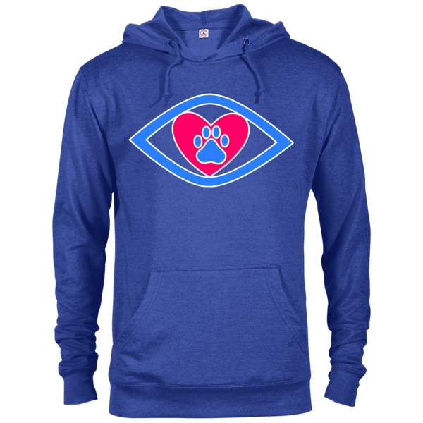 Eye-Heart-Paw - 97200 Delta French Terry Hoodie Dark Royal Heather X-Small - Little Pit Shop
