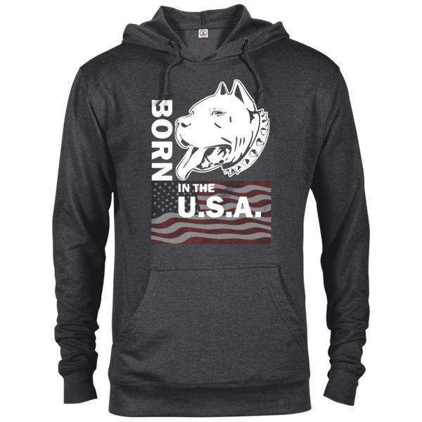 Born in the USA - 97200 Delta French Terry Hoodie Dark Charcoal Heather X-Small - Little Pit Shop