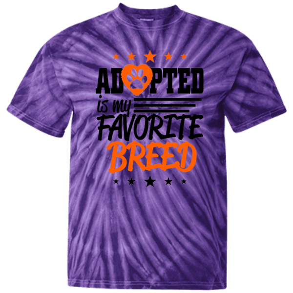 Adopted - CD100Y Youth Tie Dye T-Shirt Spider Purple YXS - Little Pit Shop