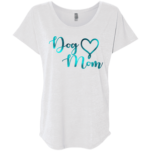 Dog Mom Teal Noise - NL6760 Next Level Ladies' Triblend Dolman Sleeve, T-Shirts | Pit Bull T Shirts, Hoodies and more | Little Pit Shop