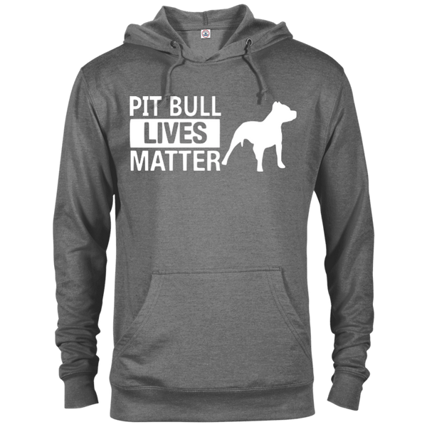 Pit Bull Lives Matter - 97200 Delta French Terry Hoodie Dark Graphite Heather X-Small - Little Pit Shop