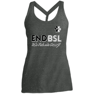End BSL - DM466 District Made Ladies Cosmic Twist Back Tank Black/Grey Cosmic X-Small - Little Pit Shop