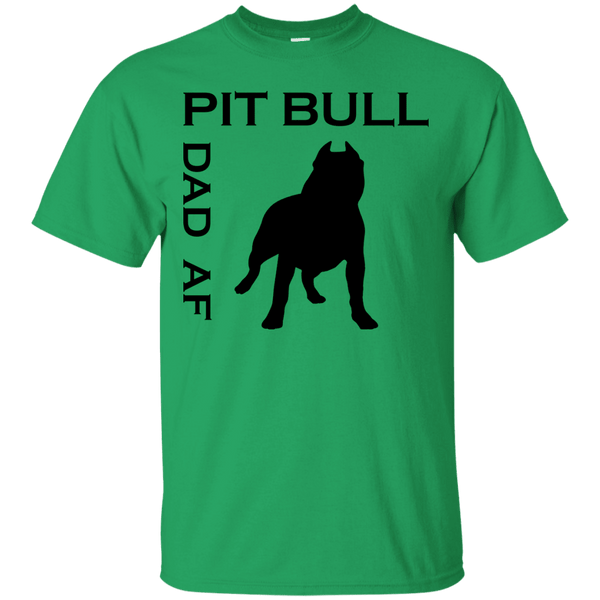 Pit Bull Dad AF - G200 Gildan Ultra Cotton T-Shirt Irish Green Small - Little Pit Shop