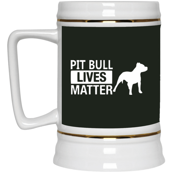 Pit Bull Lives Matter - 22217 Beer Stein 22oz. Forest One Size - Little Pit Shop
