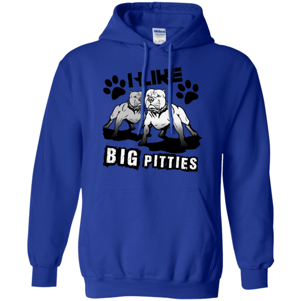 I Like Big Pitties Drk - G185 Gildan Pullover Hoodie 8 oz. Royal Small - Little Pit Shop