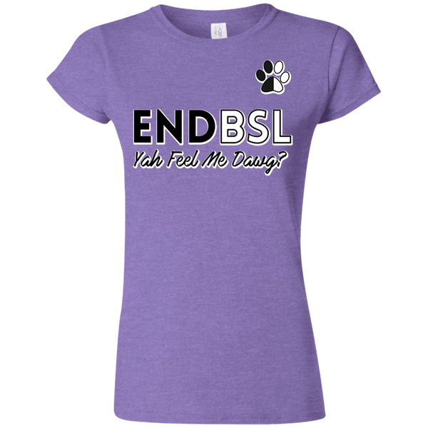 End BSL - G640L Gildan Softstyle Ladies' T-Shirt Heather Purple Small - Little Pit Shop
