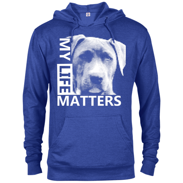 My Life Matters - 97200 Delta French Terry Hoodie Dark Royal Heather X-Small - Little Pit Shop