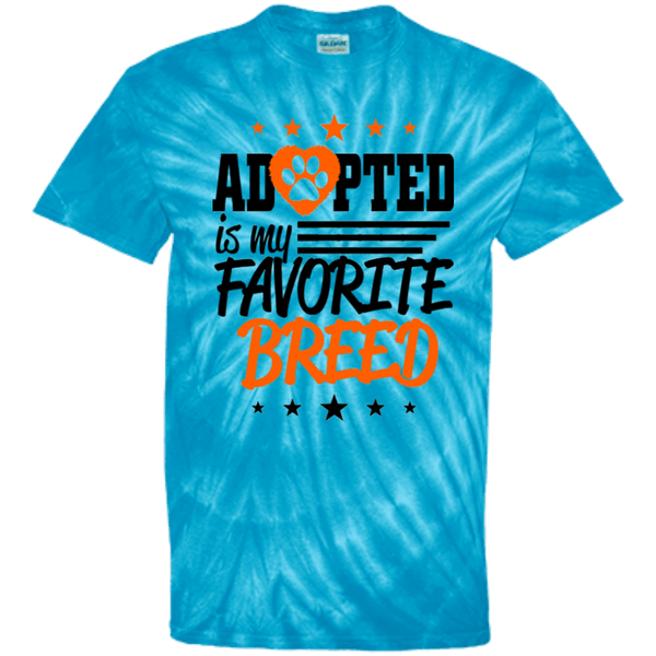Adopted - CD100Y Youth Tie Dye T-Shirt Spider Turquoise YXS - Little Pit Shop