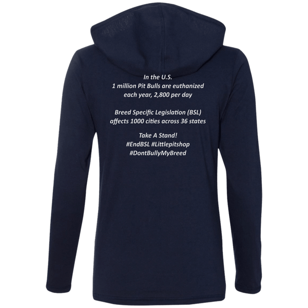 #EndBSL - 887L Anvil Ladies' LS T-Shirt Hoodie   - Little Pit Shop