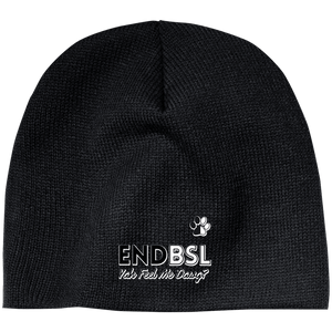 End BSL - CP91 100% Acrylic Beanie by Little Pit Shop Black One Size - Little Pit Shop