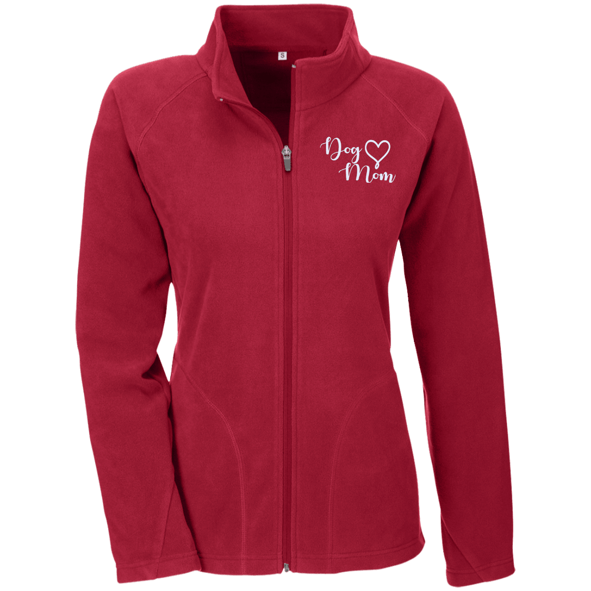 Dog Mom Wht Prnt - TT90W Team 365 Ladies' Microfleece, Jackets | Pit Bull T Shirts, Hoodies and more | Little Pit Shop