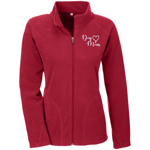 Dog Mom Wht Prnt - TT90W Team 365 Ladies' Microfleece Scarlet Red X-Small - Little Pit Shop