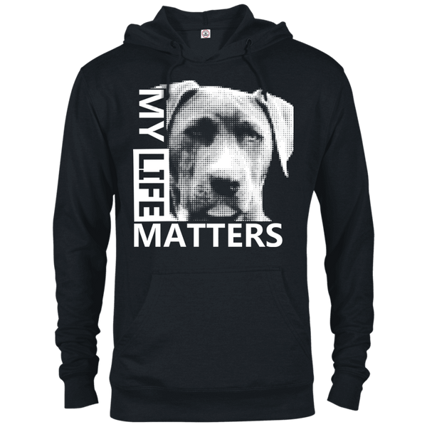 My Life Matters - 97200 Delta French Terry Hoodie Dark Black X-Small - Little Pit Shop
