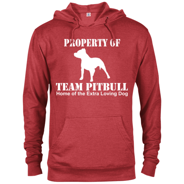 Team Pit Bull - 97200 Delta French Terry Hoodie Dark Red Heather X-Small - Little Pit Shop