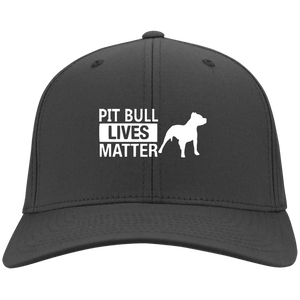 Pit Bull Lives Matter- CP80 Port & Co. Twill Cap By Little Pit Shop Charcoal One Size - Little Pit Shop