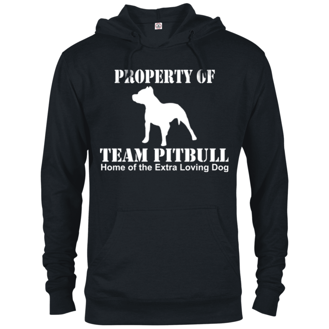 Team Pit Bull - 97200 Delta French Terry Hoodie Dark Black X-Small - Little Pit Shop