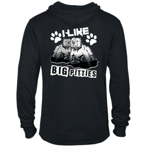 I Like Big Pitties Back Print Lt - 97200 Delta French Terry Hoodie Black X-Small - Little Pit Shop