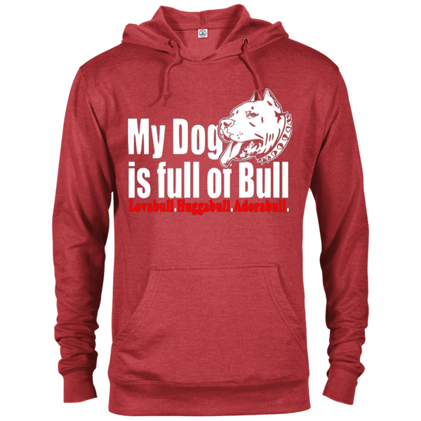 Full Of Bull - 97200 Delta French Terry Hoodie Dark Red Heather X-Small - Little Pit Shop
