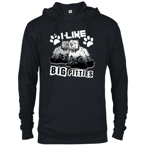 I Like Big Pitties Lt - 97200 Delta French Terry Hoodie Black X-Small - Little Pit Shop