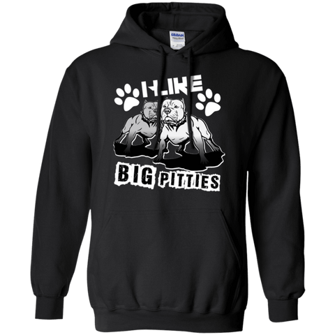 I Like Big Pitties Lt - G185 Gildan Pullover Hoodie 8 oz. Black Small - Little Pit Shop