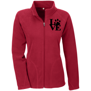 Love Paw Blck Embroidery - TT90W Team 365 Ladies' Microfleece, Jackets | Pit Bull T Shirts, Hoodies and more | Little Pit Shop