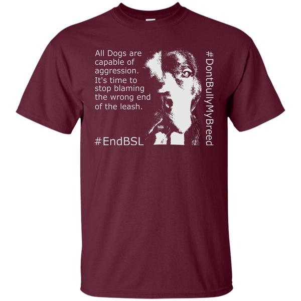 #EndBSL G200 Gildan Ultra Cotton T-Shirt Maroon Small - Little Pit Shop
