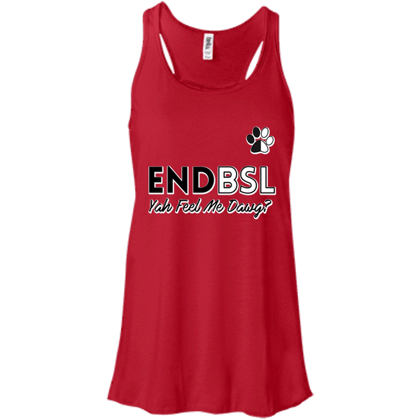 End BSL - B8800 Bella + Canvas Flowy Racerback Tank Red X-Small - Little Pit Shop