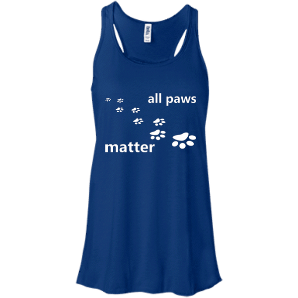 All Paws Matter - B8800 Bella + Canvas Flowy Racerback Tank True Royal X-Small - Little Pit Shop