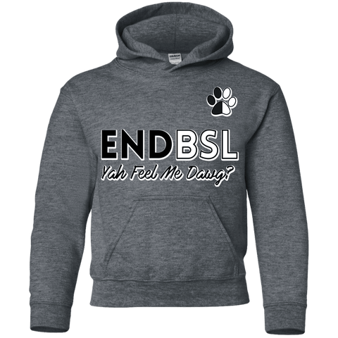 End BSL - G185B Gildan Youth Pullover Hoodie Dark Heather YS - Little Pit Shop