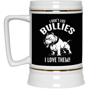 I Don't Like Bullies - 22217 Beer Stein 22oz. Black One Size - Little Pit Shop